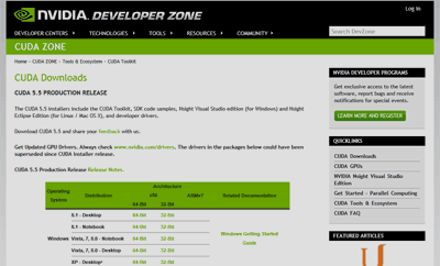 CUDA Downloads | NVIDIA Developer Zone