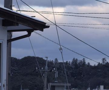 15mくらい先の屋根にピントを合わせてみる