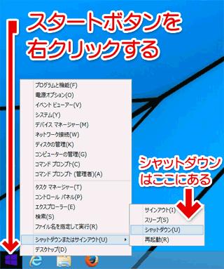 Windows8.1+マウス操作の場合
