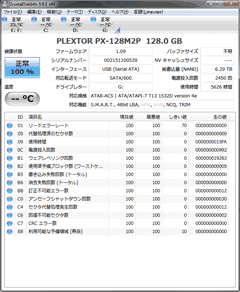 SSDドライブの状況