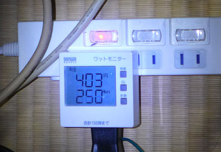 消費電力はオドロキの560W→250W