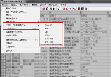 複数の文字コードに対応