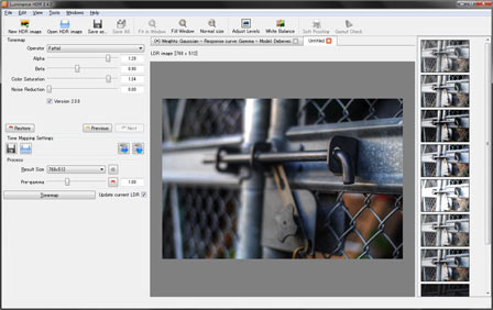 Luminance HDR起動画面