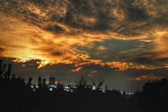 夕日、画像をHDR風の「トーンマッピング」