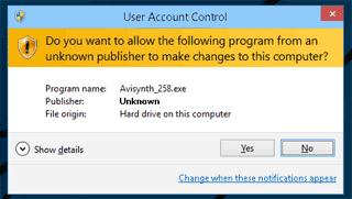 コンピューターへの変更の許可