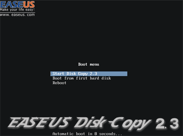 EaseUS Disk Copy Homeが作動