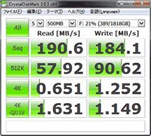 HDD速度 内周2TB分