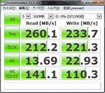 PLEXTOR PX-128M2P SATA2(3Gbps)接続時