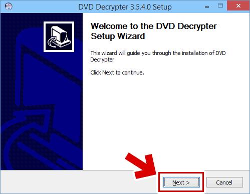 DVD Decrypter のインストール方法2:DVD Decrypter のインストーラーが起動