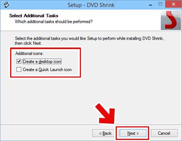 DVD Shrinkの追加タスク設定画面