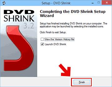 DVD Shrinkのインストール完了画面
