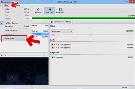 フリーソフトでdvdをコピーするための各種設定に必要な操作