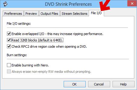 フリーソフトのファイルのコピー用I/O設定の画像です