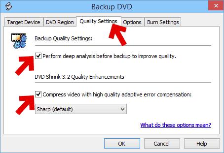 フリーソフトでdvdのコピー品質を設定