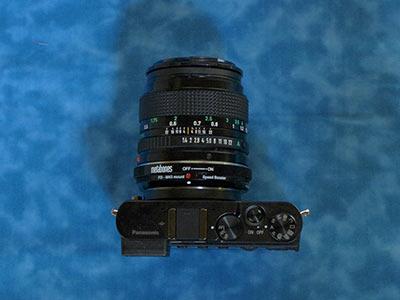 GM5+NFD50mm F1.4 上から見た図
