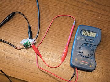 電圧調整中