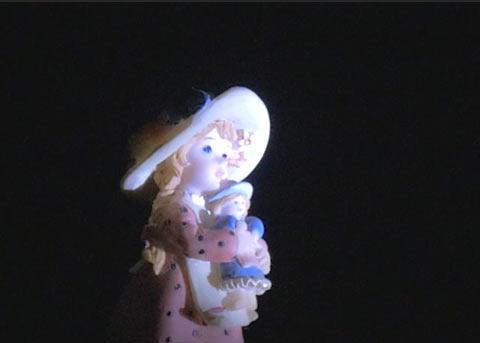 お人形のアップ