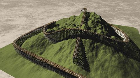 Vueのスプラインで鉄橋