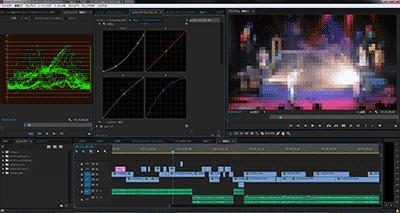 Premiere Pro CCで編集中の図