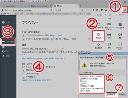 Firefoxのキャッシュクリア