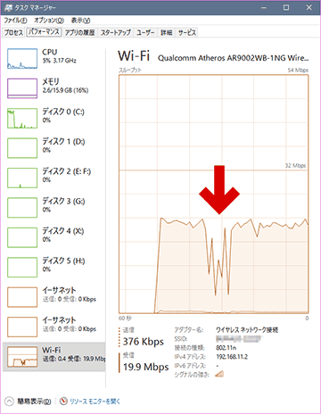 inSSIDerを使っている間はネット速度が落ちる?